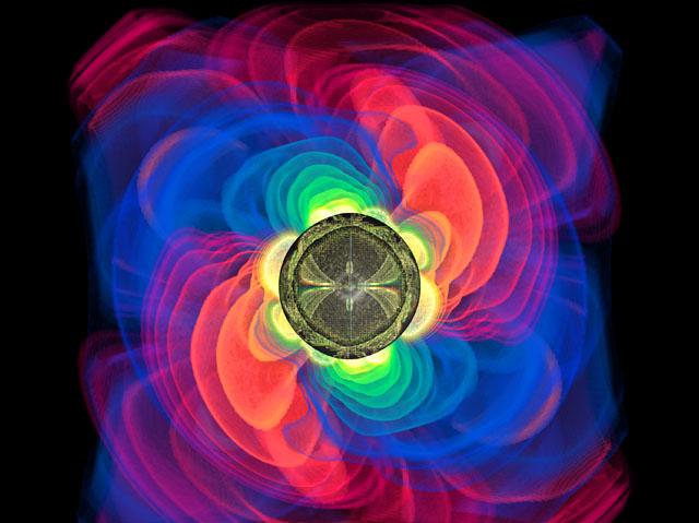 Werner Benger/Ed Seidel gravitational wave simulation