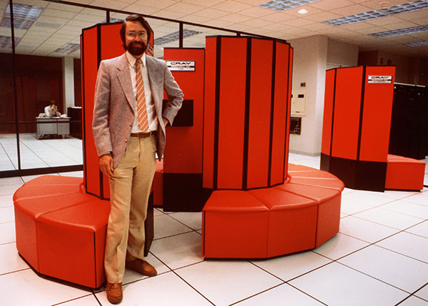 Larry Smarr with Cray X-MP