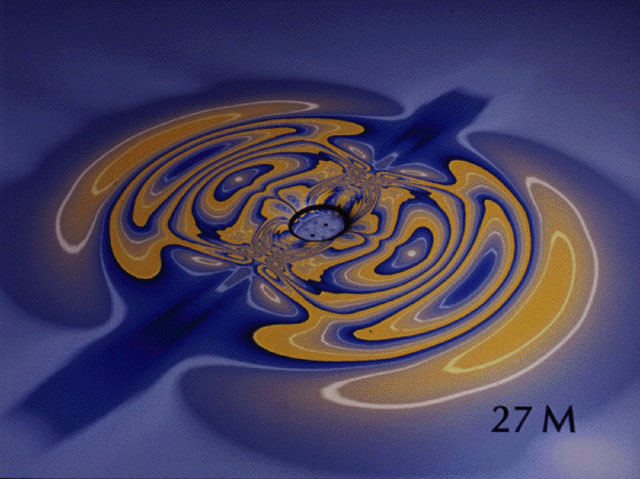 Wai-mo Suen/Ed Seidel gravitational wave simulation
